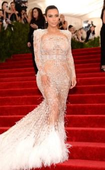 Kim Kardashian at the 2015 Met Gala on May 4, 2015 at the Costume Institute Benefit Gala at the Metropolitan Museum of Art in New York.