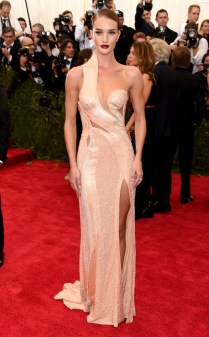 Rose Huntington-Whiteley 2015 Met Gala on May 4, 2015 at the Costume Institute Benefit Gala at the Metropolitan Museum of Art in New York.