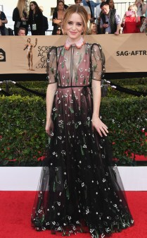 Claire Foy at the 2017 Screen Actors Guild Awards (SGA Awards) Red Carpet on Jan. 29, 2017.