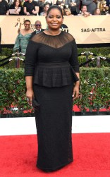 Octavia Spencer at the 2017 Screen Actors Guild Awards (SGA Awards) Red Carpet on Jan. 29, 2017.