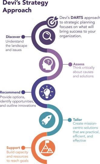 Devi's Strategic Approach focuses on your organization's success.