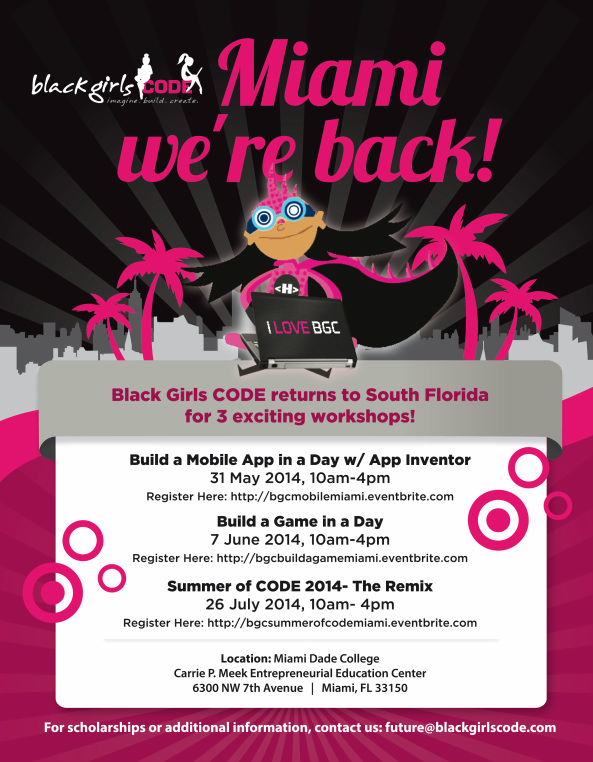 Black Girls Code Miami Flyer