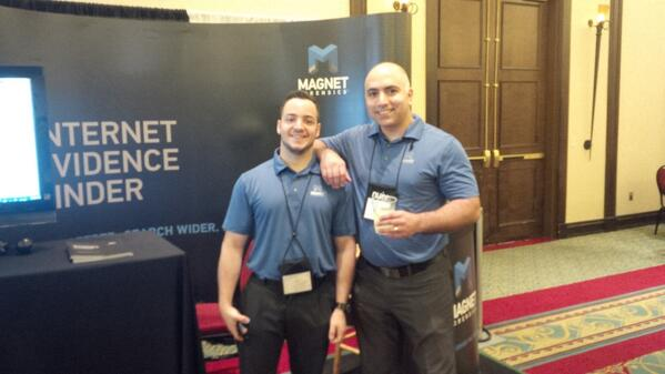 Nick and Jad at the Magnet booth - Techno Security 2014