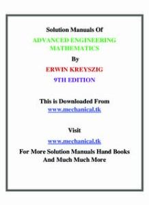 Advanced Engineering Mathematics Pdf Download