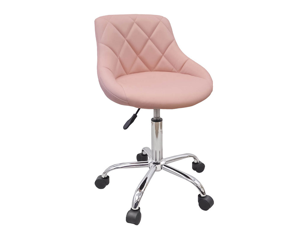 pink nail salon chairs wheelchair quotation pedicure manicure medical adjustable swivel rolling stool light devlon northwest
