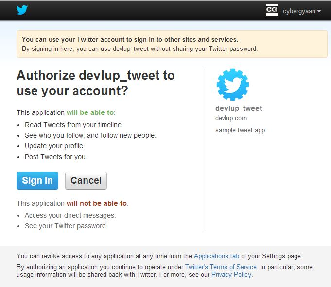 Login with Twitter using PHP - Devlup