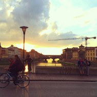 Sunset by the Ponte Vecchio-Florence, Italy