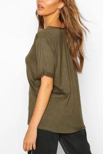 Khaki-Extreme-V-Front-Oversized-T-Shirt-1