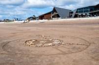 Sand Art on Mersey Bluff Beach