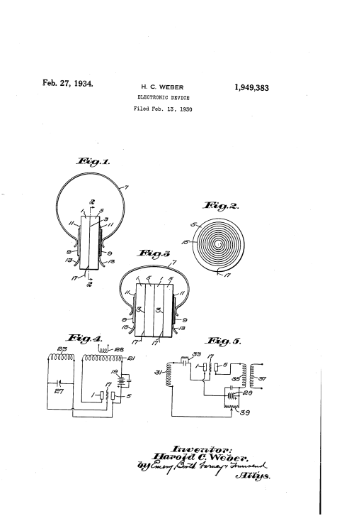 small resolution of mechanism through which electronic devices can control an electron stream source weber 1930