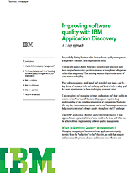 Improving software quality with IBM Application Discovery