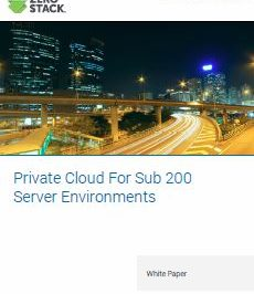Private Cloud For Sub 200 Server Environments