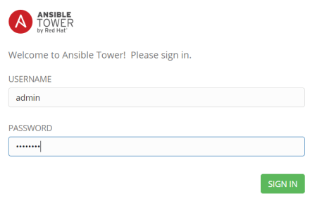 ansible tower login