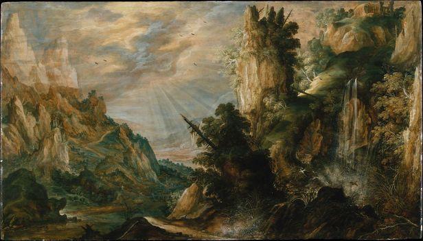 A Mountainous Landscape de Keuninck