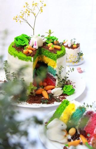Rainbow cake Paque - devorezmoi 07