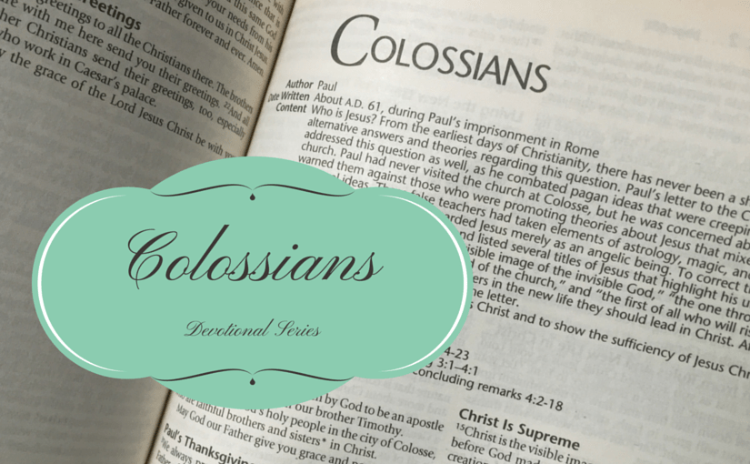 COLOSSIANS – THE BIBLE STUDY SERIES