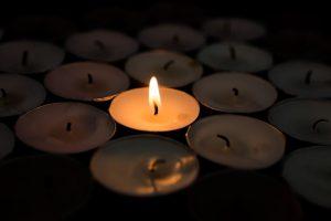 single candle light