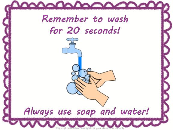 Hand washing free poster