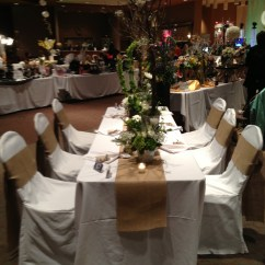 Burlap Chair Covers Wedding Traditional Occasional Chairs Rustic Natural And White Table Set Up