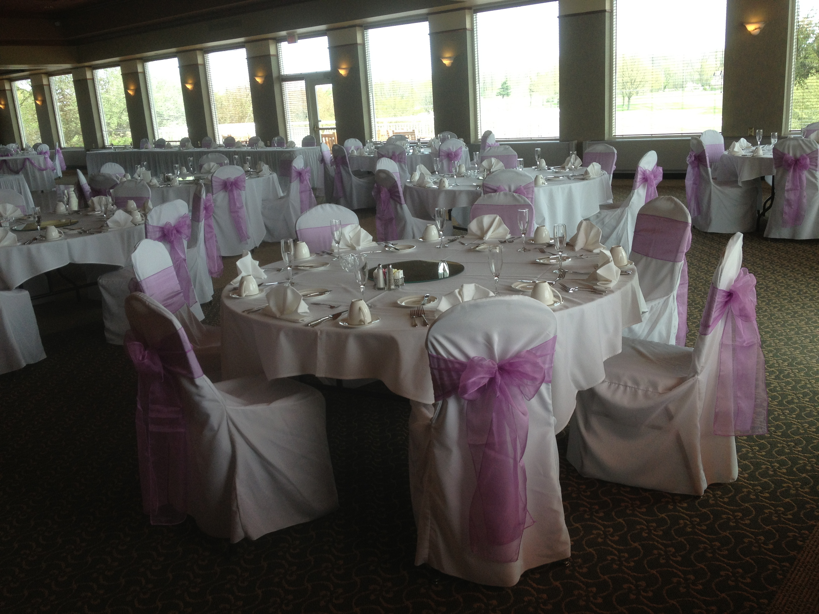 tablecloths and chair covers for rent pink sashes chairs linens devoted weddings events