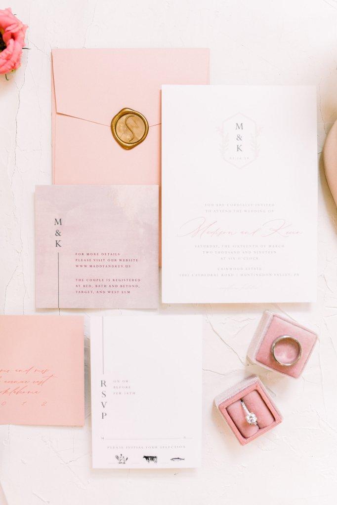 wedding invitation and stationery