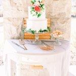 wedding cake and macarons dessert table display -Cairnwood Estate Wedding Shoot