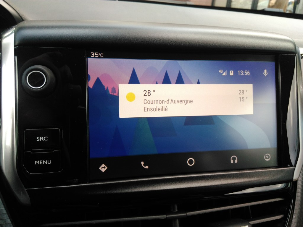 Interface Android Auto
