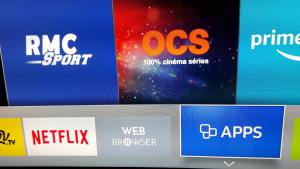 Menu Apps sur Smart TV Samsung
