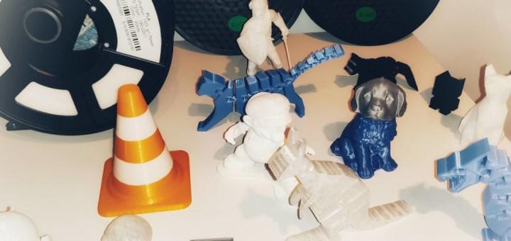 Diverses figurines imprimées en 3D