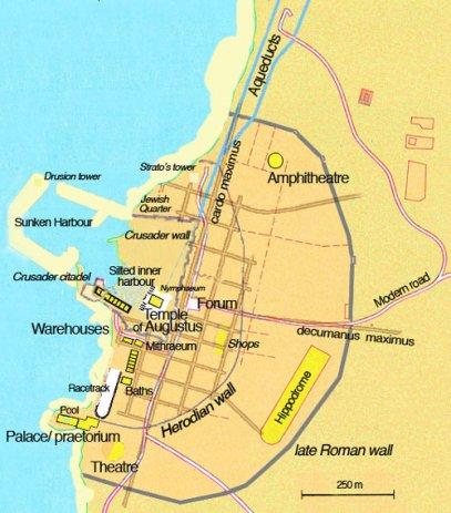 caesarea-map