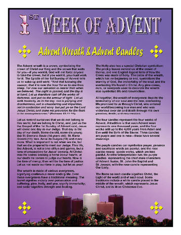 The advent wreath advent candles show the symbolism that can be found