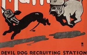 408px-Teufel_Hunden_US_Marines_recruiting_poster WIKIPEDIA public domain
