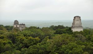 800px-Tikal_temples_1_2_3_5_2009 by Chensanyuen for wikipedia share-alike license