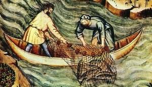 http://en.wikipedia.org/wiki/File:36-pesca,Taccuino_Sanitatis,_Casanatense_4182..jpg