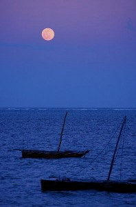 http://commons.wikimedia.org/wiki/File:Moon_Over_Mombasa.jpg