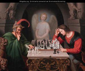 checkmate by Friedriech Moritz August Retzsch wikigallery.org