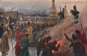 Avvakum burned 1682 by artist Myasoyedov 1897-Wiki Pub-Dom