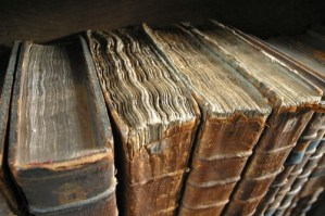 http://en.wikipedia.org/wiki/File:Old_book_bindings.jpg