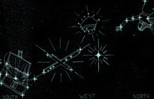 summer constellations with treasure chest