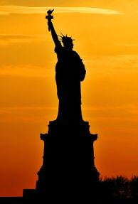 http://commons.wikimedia.org/wiki/File:Statue_of_Liberty,_Silhouette.jpg