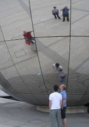 Mirror globe by Arpingstone for Wikipedia - Public Domain