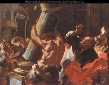 http://www.wikigallery.org/wiki/painting_372217/Lorenzo-De-Caro/Samson-Destroying-The-House-Of-Philistines