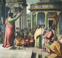 St Paul Preaching in Athens - Raphael - 1515 - Wikipedia - US Public Domain
