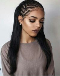 braids in the front hair down in the back 40 tree braids ...