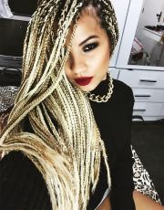 stunning medium box braids