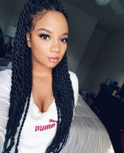 chic and beautiful senegalese twists