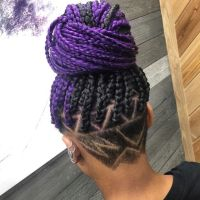 Purple Braids Styles: 35 Gorgeous Purple Braids Hairstyles