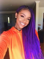 purple braids styles 35 gorgeous