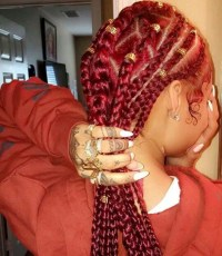 30 Awe-Inspiring Red Box Braids Hairstyles You Will Love ...