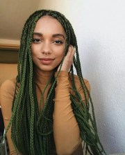 box braids with color 30 colored
